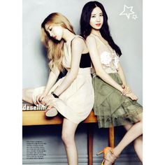 Taeyeon, Tiffany, and Seohyun Featured in Interview as First Korean... ❤ liked on Polyvore featuring kpop