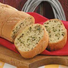 Herbed Garlic Bread toppings for french bread loaf