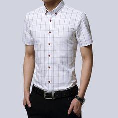382db30b76385c7 2018 Casual 5XL Plus Size Dress Shirts Men Shirt Cotton Plaid Blouseeosewe