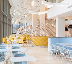 The surprisingly pastel #office of Netherlands energy company.