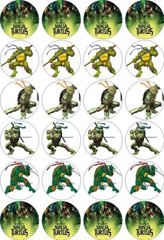 24 x 4.5cm TEENAGE MUTANT NINJA TURTLES EDIBLE RICE/WAFER PAPER CUPCAKE TOPPERS | eBay