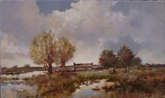 Landscape by Bogdan Goloyad 18x30 cm oil on by BogdanGoloyadArt
