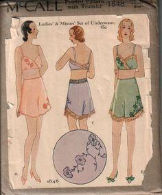 Vintage-Patterns-McCall-1930s-Lingerie-Pattern.jpg (779×943)