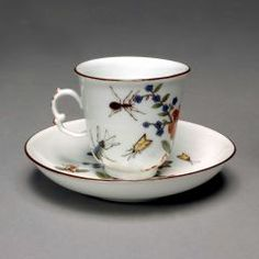 Cup and Saucer MEISSEN PORCELAIN MANUFACTORY (GERMAN, b. 1710–PRESENT) C. 1750
