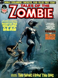 Tales Of The Zombie n°1, 1973, cover by Boris Vallejo.