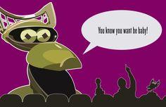 Robot Roll Call!  Crow T. Robot digital illustration.