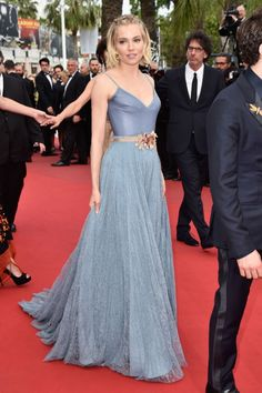Sienna Miller in ice blue. See more of #TheLIST's best dressed wedding guests here.