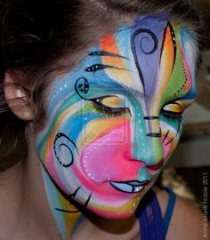 abstract face painting face-painting. @Aunt Deb! :)