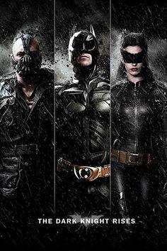 Póster Batman: The Dark Knight Rises, trio