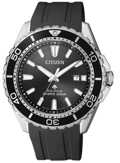 Citizen Promaster is scuba diver watch powered by a Citizen Eco-Drive movement. Citizen Eco, Stainless Steel Bracelet, Stainless Steel Case, Herren Chronograph, Solar Watch, Rubber Watches, Online Watch Store, Watch Sale, Black Crystals