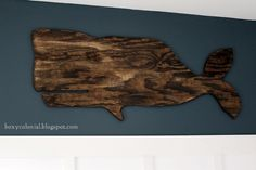 $11 Big Wooden Whale: The LAST (sniff) (at least for now) Nursery Post - http://boxycolonial.com/the-last-sniff-at-least-for-now-nursery-post-11-big-wooden-whale/