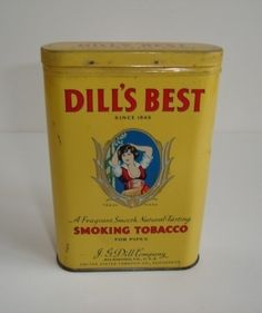 "Vintage "" DILL'S BEST "" tobacco pocket tin .. NICE !!!!!!!!! Edit item  Reserve item  $125.00"