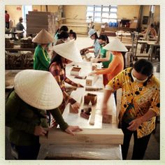 Shooting commercial assignment at a #vietnam furniture factory which supplies only USA and EU markets. Hand inspected and sanded oak table legs. #ivietnam #travel #onassignment