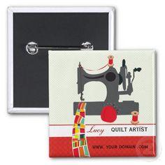 Quilt Craft Artist Name tag Buttons #quilt #quilting #artist