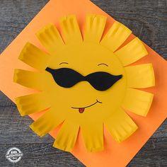 PAPER PLATE SUN CRAFT - Kids Activities