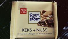 Ritter Sport Keks + Nuss als 100g Tafel