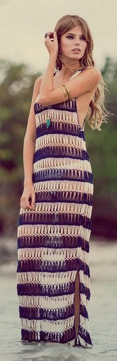 crochet dress by Anna Kosturova