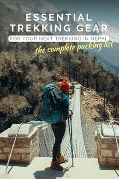 Outdoor Travel packing Essential Trekking Gear For Nepal - The Complete Packing List - Backpacking Tips, Hiking Tips, Camping And Hiking, Hiking Gear, Camping Gear, Trekking Food, Trekking Gear, Nepal Trekking, Winter Vacation Packing