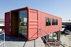 Image result for recycled shipping container as popup