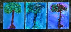 Twins at play!: Seed trees & water color on canvas Fall Preschool Activities, Preschool At Home, Toddler Activities, Watercolor Canvas, Watercolor Trees, Art For Kids, Crafts For Kids, Arts And Crafts, Montessori Art
