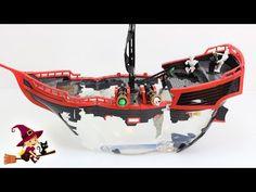 Barco Pirata Acuarium con un Tiburón que Nada - YouTube