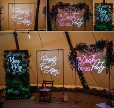 Neon signs at the Rustic Wedding Show in April taken by Becky Harley Photography In April 2019 I exhibited at the Rustic Wedding Show, which took place at Lattenbury Hill Weddings in Cambridgeshire. Read about the awesome suppliers! Wedding Show, Fall Wedding, Our Wedding, Dream Wedding, Wedding Themes, Wedding Signs, Wedding Decorations, Wedding Ideas, Decor Wedding