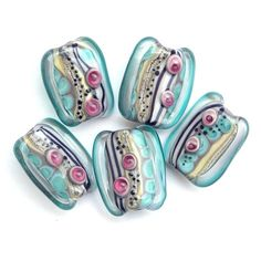 Fata Morgana - Handmade Lampwork Glass Bead Set by Sarah Hornik