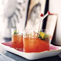 Recipes from: Foodily http://www.foodily.com/r/W1UoV07S3p-bourbon-and-blood-orange-blast-by-real-simple