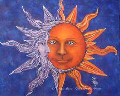 """""""Celestial"""" by Theresa Stahl Owl's Flight Original Artwork www.owlsflight.com"""