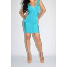 bebe Dress XS 0 2 Baby Blue Bandage Bodycon Stripe - from $129.00