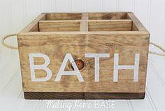 DIY Wood Caddy for the Bathroom