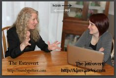 Synchronized Blogging by the Extrovert and the Introvert. Because the world needs both kinds of people. #blogging #mindypeltier #kimvandel