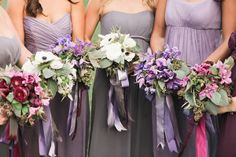 A Heart-Stoppingly Romantic Plum Wedding by Sylvie Gil Photography - Wedding Party