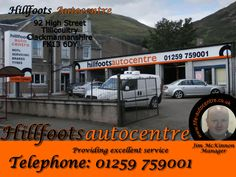 Hillfoots Autocentre 92 High Street Tillicoultry Clackmannanshire FK13 6DY Telephone 01259 759001