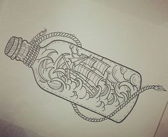 LOVE the idea of a ship in a bottle somewhere on the sleeve