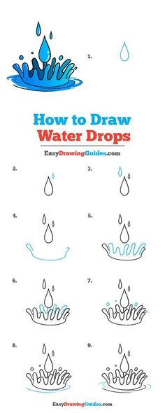 Learn to draw water drops. This step-by-step tutorial makes it easy. Kids and beginners alike can now draw a great water drops.