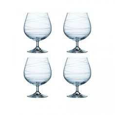 Spiral Brandy Glasses (Set of four)