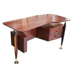 Jacaranda Desk with Two Drawers by Scapinelli