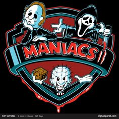 MANIACS II T-Shirt ~ $10 at RIPT today only!