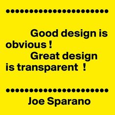 Quote about design from joe soprano