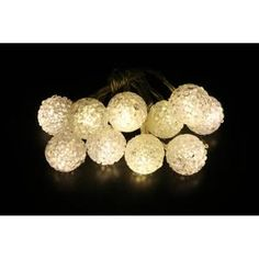 Guirlande Lumineuse Int 10 LED Guirlande lumineuse en Boule Blanc chaud Dé