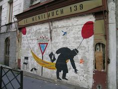 Nemo #street art on Rue de Ménilmontant - Paris (France) in 2005. Photo by Perry Tak.