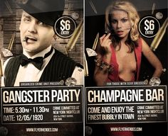 Gangster Mugshot Themed PSD Party Flyer Template by ~quickandeasy1 on deviantART