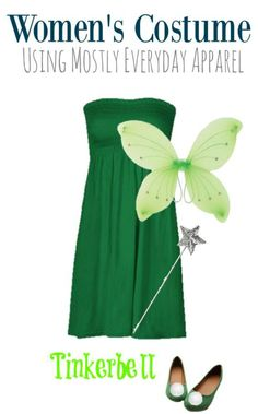 DIY Tinkerbell Halloween Costume for adults. It's the perfect dairy costume for the Disney loving woman in your life.