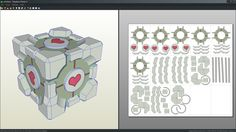 Companion Cube papercraft unfold by Antyyy.deviantart.com on @DeviantArt