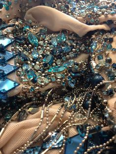 Julien Macdonald's crystal creations for the English National Ballet were brought to life by a team 5 embroiders, 3 machinists and 2 pattern cutters, with each costume taking over 300 hours to complete and featuring over 20,000 #Swarovski Crystals per garment.