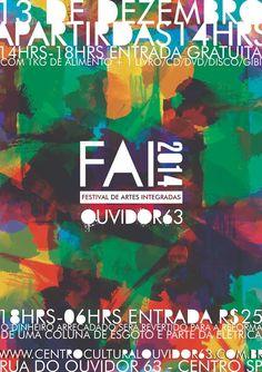 """A Ocupação Artística Ouvidor 63-que desde o começo do ano toma conta de um prédio abandonado de 13 andares da Secretaria da Cultura, no centro de São Paulo - promove neste sábado (dia13), a partir das14h, a primeira edição do Festival de Artes Integradas do Centro Cultural Ouvidor 63 (FAI CCO63). Contando com exposições, apresentações,...<br /><a class=""""more-link""""…"""
