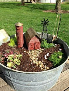 garden outdoors Are you looking for ways to create your own DIY Fairy Garden Outdoor Design? There are many great DIY Fairy Garden Outdoor Design ideas that you can use to create a mag Mini Fairy Garden, Fairy Garden Houses, Gnome Garden, Garden Farm, Garden Arbor, Fairy Gardening, Fairies Garden, Easy Garden, Fairy Garden Plants