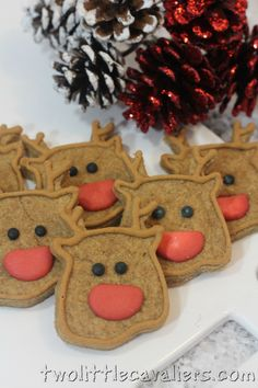 Reindeer Dog Treats #Recipe - Two Little Cavaliers