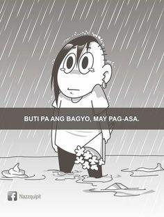 Memes Pinoy, Memes Tagalog, Filipino Memes, Tagalog Love Quotes, Filipino Pick Up Lines, Funny Qoutes, Funny Memes, Hugot Lines Tagalog Funny, Patama Quotes